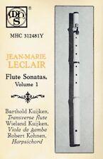 Barthold Kuijken - Jean-Marie Leclair Flute Sonatas Volume 1 MHS Cassette