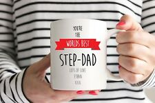 Personalised Worlds Best Step Dad Mug - Birthday Gift Fathers Day