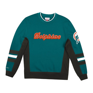 Men's Mitchell & Ness Dark Teal NFL Miami Dolphins Home Town Champs Crewneck -