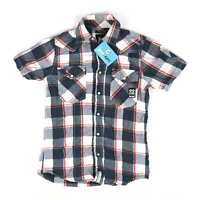 Crosshatch Grey Check Cotton Mens Casual Shirt Size S