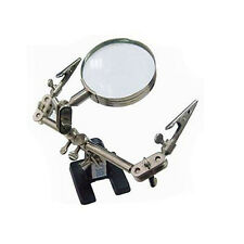 Soldering Clamp Stand Magnifier Glass Clamps Modelling Pincer Helping Third Hand