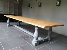 Vintage style Rustic Dining Table. Balustrade legs. Any Size