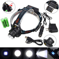 6000lm XM-L T6 Rechargeable LED Linterna Frontal Lámpara Luz headlight 2x18650