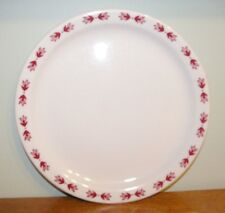 """Spokane Portland and Seattle Railroad Dining Car China Dinner plate """"Red Leaves"""""""
