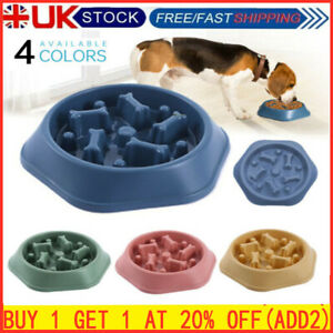 Slow Feeder Dog Bowl Anti Bloat No Gulp Puppy Pet Cat Interactive Feeding Bowl_