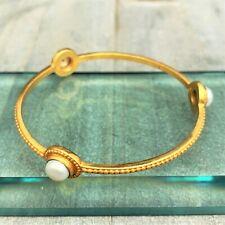 Julie Vos 'Florentine' Pearl Stone Bangle Bracelet - NEW