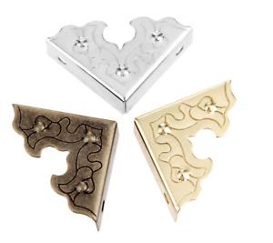 Metal Iron Decorative Box Corner Protectors Brass Gold Silver