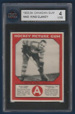 FRANK KING CLANCY 33-34 CANADIAN GUM 1933-34 NO NUMBER KSA 4  15993