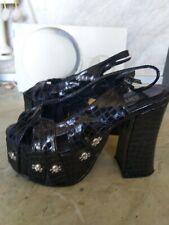 Demonia black women sandals size 5