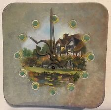 Mauthe Metal Hand Painted Plate Clock - West Germany