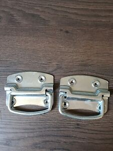 Pair Heavy Duty Silver zinc plated Chest Handles/Toys/Blankets/Trunk Boxes NEW