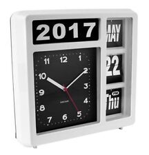 Karlsson Flip Calendar Wall / Table Clock - White