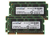 8GB (4X 2GB) Crucial SDRAM DDR2 PC2-5300S 667MHz 667 200PIN Sodimm Laptop Memory