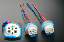 TWO 9004 HB1 9007 HB5 Halogen Light Bulb Socket Female 3 Wire Harness Pigtail