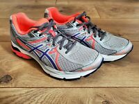 Asics T664N Gel-Flux 3 Womens Running Shoes Sneakers Size 9.5 Gray Coral EUC