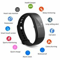 Heart Rate Blood Pressure Monitor Fitness Tracker Smart Bracelet Watch Wristband