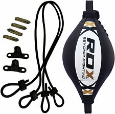 RDX Leather MMA Double End Dodge Speed Ball Boxing Floor to Ceiling Punch Bag AU