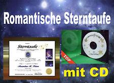 STERNTAUFE = Romantik pur =  mit 3D-Sternensoftware