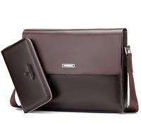 US Mens Leather Shoulder Handbag Business Briefcase Laptop Bag