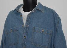 Designer Denim Blue Jean Shirt Mens XL (Big) Great FADED VINTAGE Look EUC