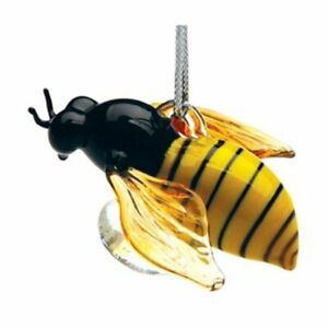 Dynasty Gallery Honey Bee Glass Hanging Christmas Ornament
