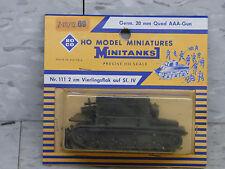 Roco / Herpa Minitanks (NEW) WWII German SF IV 20mm Quad AAA Gun Tank Lot #454