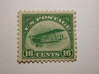 U.S. Scott #C2 1918 16 Cent Jenny Airmail, hinged