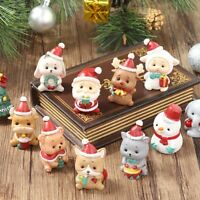 Mini Figurine Christmas Santa Claus Miniature Resin Kid Toy DIY Garden Ornaments