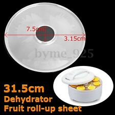 1Pc Plastic Flow Food Dehydrator Mesh Sheet Nonstick Liner Clean Screen 31.5cm