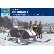 Trumpeter 02322 1/35 Soviet Aerosan Rf-8/Gaz-98 Combat Sled Assembly Model Kits