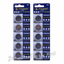 10 CR2032 DL2032 CMOS Lithium 3V NEW Watch Battery Exp 2017 Ships FREE from USA