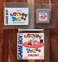 Looney Tunes (Nintendo Game Boy, 1992) CIB Complete Box Manual Very Nice