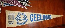 1968 Geelong Large Preliminary Final Pennant Cats Souvenir Flag Player Names