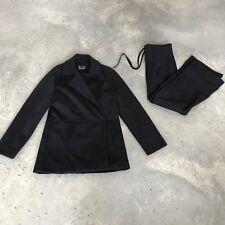 Pianura Studio Black Womens Blazer Jacket Two Piece Suit R SZ Small