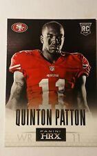 NFL Trading Card Quinton Patton San Francisco 49ers Rookie Card HRX 2013 Panini