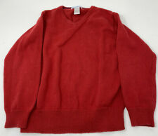Janie and Jack Red V Neck Sweater Size 5 Solid School Church Uniform Boys