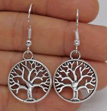 Cute New Fun Tibetan Silver Tree of Life Drop Dangle Earrings