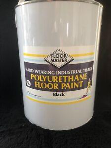 FLOOR MASTER GARAGE/WORKSHOP FLOOR PAINT 5LT BLACK Used By the Professionals.