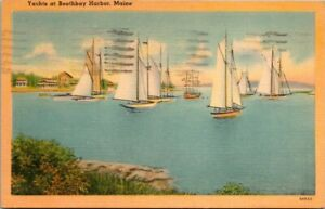 Postcard Yachts At Boothbay Harbor Maine
