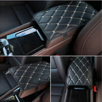 Universal Car Armrest Pad Cover Auto Center Console Box PU Leather Cushion Black