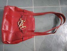 TEXIER Made in FRANCE Cognac Leather Shoulder Bag Purse VINTAGE
