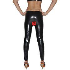 Brand New Latex Rubber Open Leggings Long Pants (one size)
