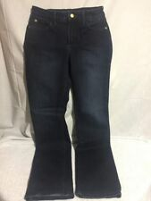 NYDJ Not Your Daughters Glitter Sparkle Straight Leg Stretch Jeans Women's SZ 4