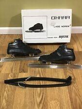 Vtg Bristol O'Hara Lage Noren Speed Skates sz 39 Suede Leather Lined Box