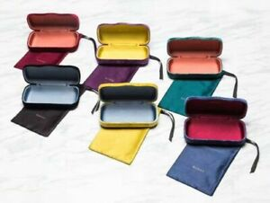 NEW Genuine GUCCI Sunglasses Hard Case Pouch Cleaning Cloth Frame Eye Glasses
