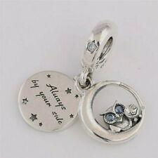 Genuine Pandora Silver Always By Your Side Owl Dangle Charm 798398NBCB NEW!