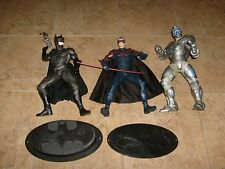 "3 BATMAN & ROBIN MOVIE 12"" FIGURE LOT WARNER BROTHER'S STORE MR FREEZE LOOSE LOT"