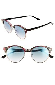 RAY-BAN RB4246 1257/3F SPOTTED MULTI GRAD BLUE CLUBROUND FLECK SUNGLASSES. 51mm