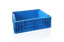 12x fabrikneue Stapelkisten Box Behälter R-KLT 4147, 400x300x147 mm, signalblau