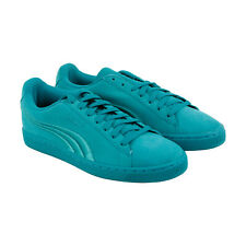 Puma Suede Classic Badge 36259412 Mens Green Lace Up Low Top Sneakers Shoes 8